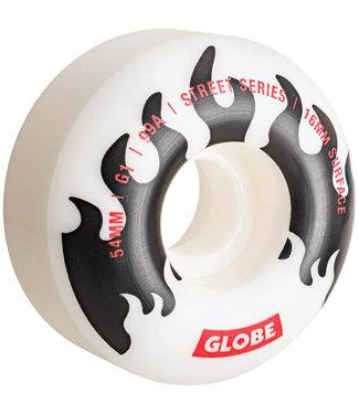 Globe G1 Premium Skateboard Wheels 54mm 99A White/Black/Flame