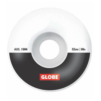 Globe G1 Premium Skateboard Wheels 52mm 99A White/Black/Bar
