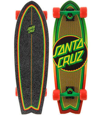 Santa Cruz Rasta Weave Dot 27.5 Cruiser Complete Shark