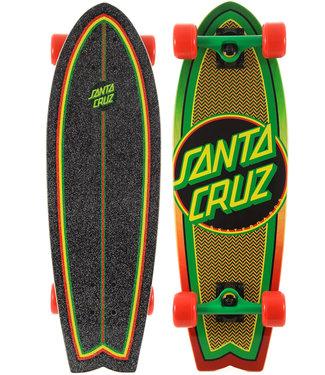 Santa Cruz Rasta Weave Dot 27.5 Cruiser Complete Shark