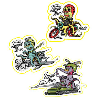 Liquid Force Alien Sticker (3 pack)