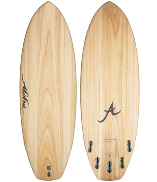 Aloha Surfboards Black Panda 5'8 EcoSkin Wood FCS II 5 Fins