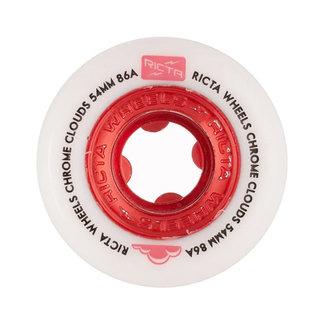 Ricta Chrome Clouds All Terrain Skateboard Wheels 53mm/86A Red
