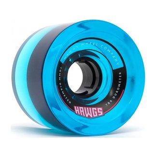 Hawgs 70's Cruiser Wheels Clear Blue 70mm 78A