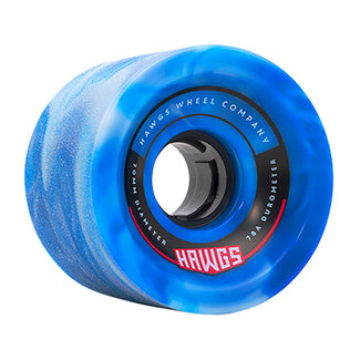 Hawgs 70's Cruiser Wheels Blue Swirl 70mm 78A