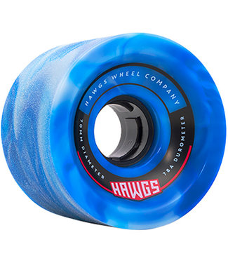 Hawgs 70's Cruiser Wheels Blue Swirl 70mm 78A