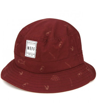 Neff Trouty Bucket Hat Maroon