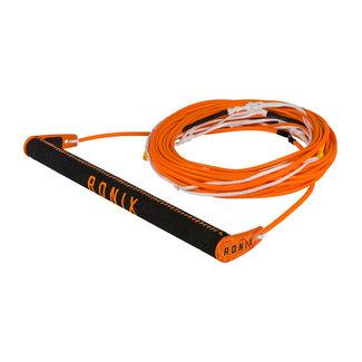 Ronix Combo Orange 6.0 Hide Grip With Nylon Barlock W R6 80Ft Rope Package