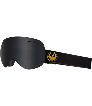 Dragon X1 Gold Goggle Dark Smoke + Flash Blue LumaLens