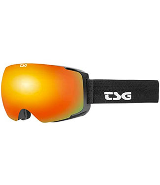 TSG Goggle Two Solid Black / Red Chrome Lens + Yellow Bonus Lens