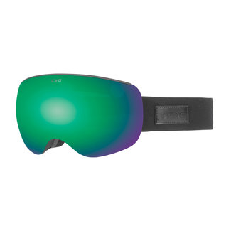 TSG Goggle Three Blackout / Green Chrome + Yellow Bonus Lens