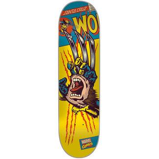 "Santa Cruz Marvel Wolverine Hand 8.26"" Skateboard Deck"