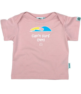 Lazy Baby Can't Surf Yet Pink 12-24 maand