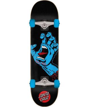 "Santa Cruz Screaming Hand Full 8.0"" Complete Skateboard Black/Blue"