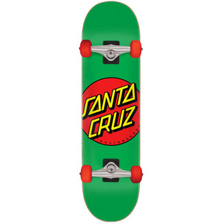 "Santa Cruz Classic Dot Mid 7.8"" Green/Red Complete Skateboard"