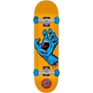 "Santa Cruz Screaming Hand Mid 7.8"" Complete Skateboard Orange"