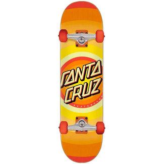 """Santa Cruz Gleam Dot Full 8.0"""" Complete Skateboard Orange"""