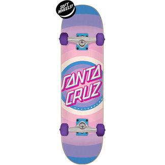 "Santa Cruz Gleam Dot Mini 7.75"" Complete Skateboard Pink/Purple"