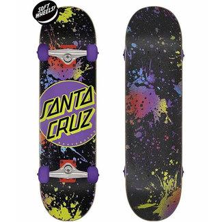 """Santa Cruz Dot Splatter Micro 7.5"""" Complete Skateboard Multicolored"""