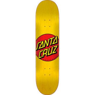 "Santa Cruz Classic Dot FA20 7.75"" Skateboard Deck Yellow"