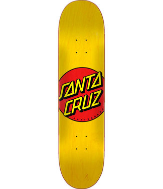 "Santa Cruz Classic Dot FA20 7.75"" Skateboard Deck Yellow"