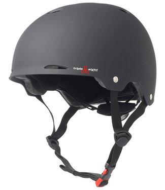 Triple Eight Gotham Black Matte EPS Liner Skate/Bike Helm