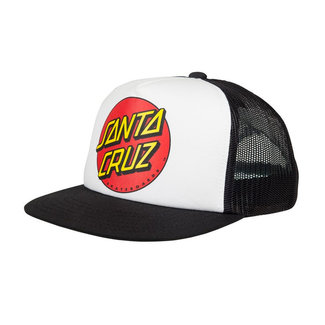 Santa Cruz Classic Dot Youth Cap Black/White