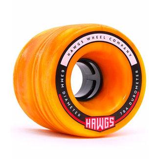 Hawgs Fatty Cruiser Wheels 63mm 78A Orange/Yellow