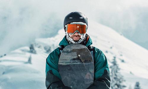 Snowboard rent center
