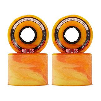 Hawgs Chubby Longboard Wheels 60mm 78A Orange/Yellow