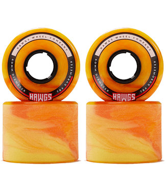 Hawgs Chubby Longboard Wheels 60mm 78A Orange/Yellow