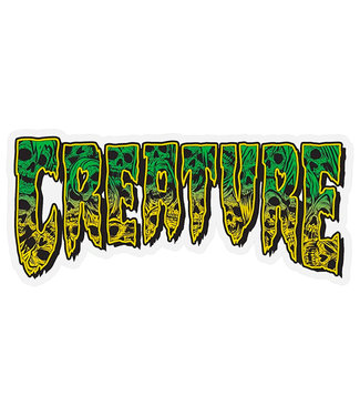 "Creature Catacomb 6"" Green/Yellow Sticker"