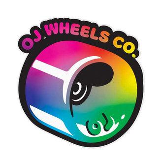 "OJ Wheels Hot Juice Fade 3.25"" Multicolered Sticker"