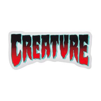 "Creature Logo Horror 4"" Black/Red Sticker"