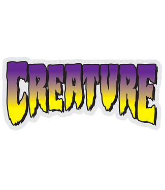 "Creature Logo 5"" Purple/Yellow Sticker"