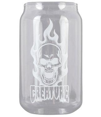 Creature Bonehead Beer Can Glass
