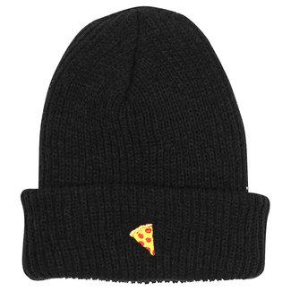 Pizza Skateboards Emoji Black Beanie O/S
