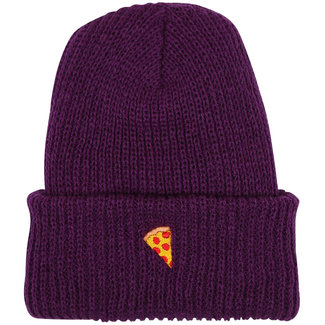 Pizza Skateboards Emoji Purple Beanie O/S