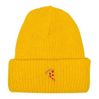 Pizza Skateboards Emoji Yellow Beanie O/S