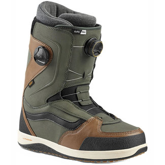 Vans Mens Aura Pro Green/Brown Snowboard Boots