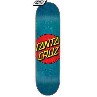"Santa Cruz Classic Dot FA20 8.5"" Skateboard Deck Blue"