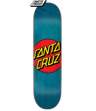 "Santa Cruz Classic Dot FA20 8.5"" Skateboard Deck Blue"