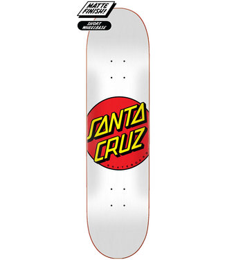 "Santa Cruz Classic Dot FA20 8.0"" Skateboard Deck White"