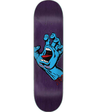 "Santa Cruz Screaming Hand FA20 8.375"" Skateboard Deck Purple"