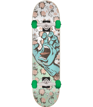 "Santa Cruz Floral Decay 8.0"" Skateboard Complete White/Light Green"