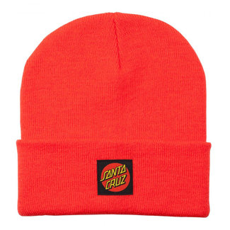 Santa Cruz Classic Dot Label Beanie O/S Hot Coral