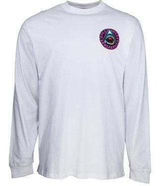 Santa Cruz Speed Wheels Shark L/S T-Shirt White