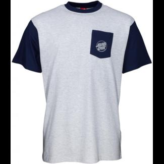 Santa Cruz Outline Hand T-Shirt Dark Navy/Athletic Heather