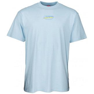 Santa Cruz Cosmic Cat Strip T-Shirt Powder Blue