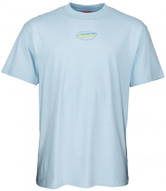Santa Cruz Cosmic Cat Strip T-Shirt Powder Blue